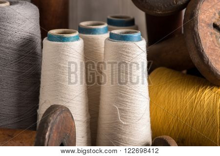 Spools Of White Thread