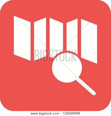 Explore, search, find icon vector image. Can also be used for maps navigation. Suitable for use on web apps, mobile apps and print media.