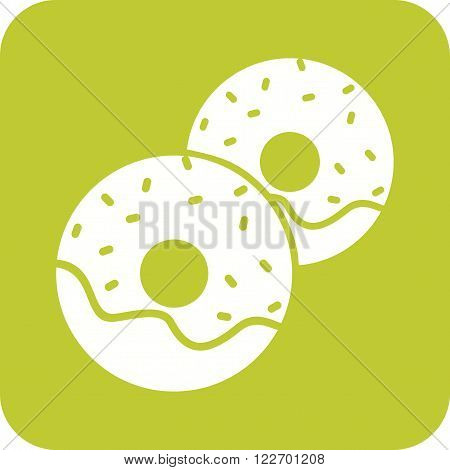 Doughnut, bakery, sweet icon vector image. Can also be used for bakery. Suitable for use on web apps, mobile apps and print media