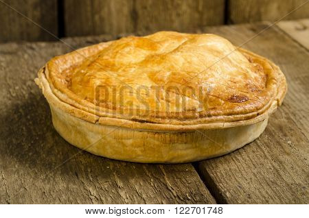 Homemade Pie On Wooden Background