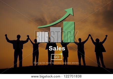 Sales Commerce Costs Finance Income Profit Concept