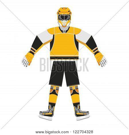 Hockey player. Sports uniforms hockey player. Vector hockey jersey of ice hockey player.