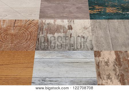 Planks Of Different Material