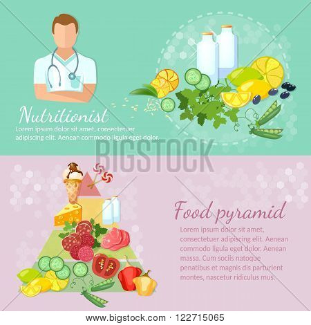 Healthy food banner nutritionist diet dietetics eating right