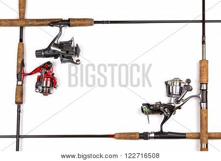 Frame From Fishing Rods And Reels