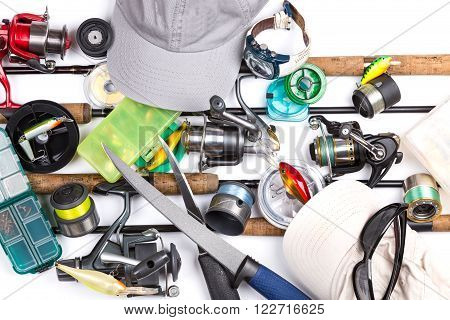 Fishing Tackles, Equipment And Caps
