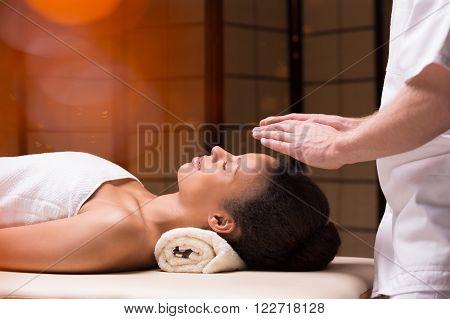 Woman And Her Bioenergy