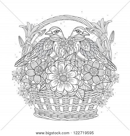 Blessing Bird Coloring Page