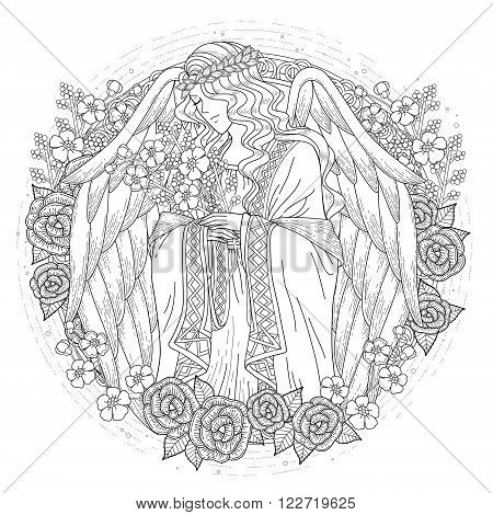 Graceful Angel Coloring Page