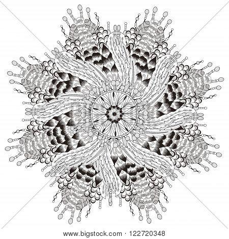 Attractive Mandala Coloring Page