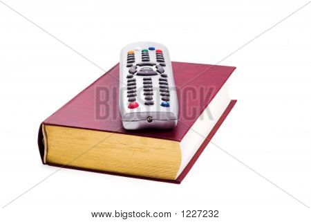Tv Remote & Book
