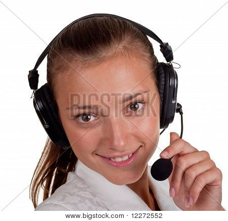Girl About A Speakerphone