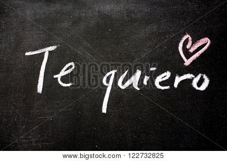 Te quiero - Spanish expression of