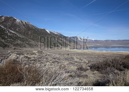 A landscape image of Mono Lake in California
