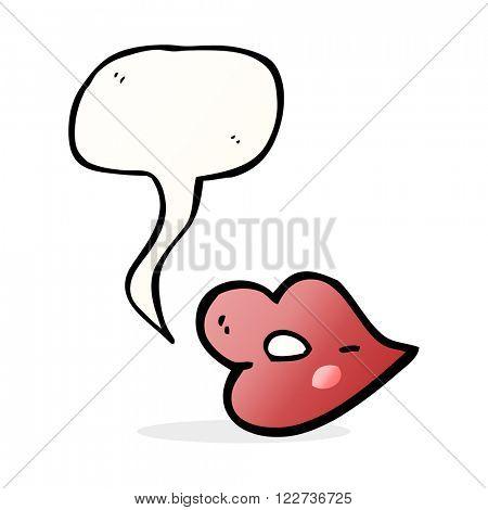cartoon lips with speech bubble