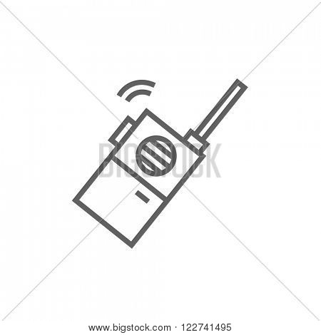 Portable radio set line icon.