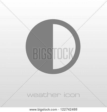 Half Moon outline icon. Sleep night dreams symbol. Meteorology. Weather. Vector illustration eps 10