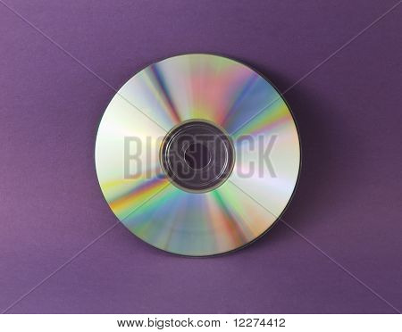 CD-ROM on purple background