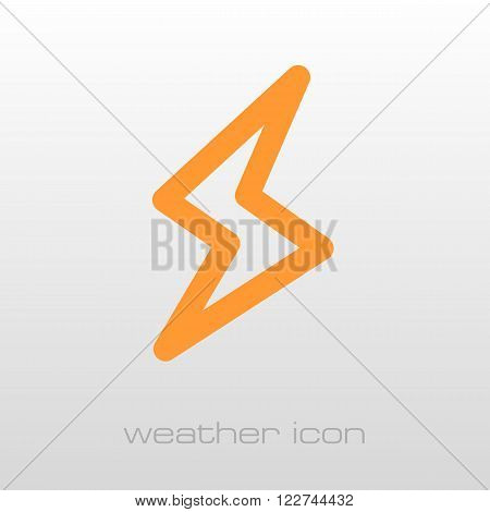 Lightning outline icon. Meteorology. Weather. Vector illustration eps 10