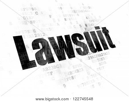 Law concept: Lawsuit on Digital background