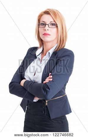 Confident Business Woman Arms Crossed
