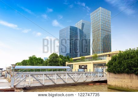 China Shanghai Huangpu River and dock construction