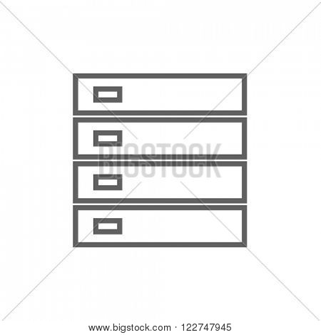 Computer server line icon.