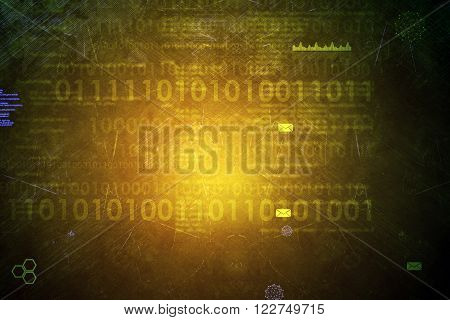 Abstract background with numbers and grpahical charts
