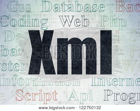 Software concept: Xml on Digital Paper background