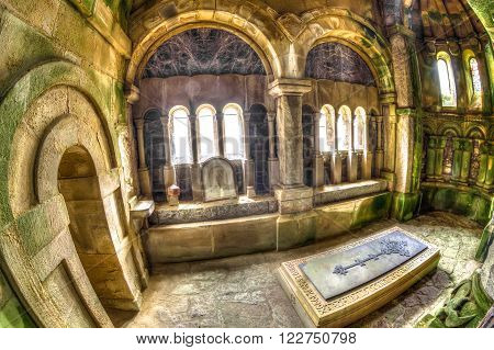 Argyll, Scotland, United Kingdom - June 1, 2015: Side chapel of Saint Conan's Kirk, located in Lock Awe in Argyll town