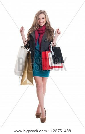 Satisfied Shopping Lady