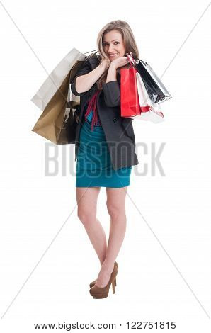 Cute And Adorable Shoping Girl