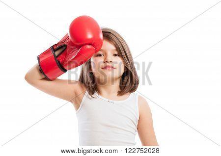 Tired Boxer Girl