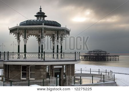 Brighton winter scene