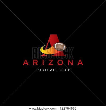 letter A vector template for using as football club logo
