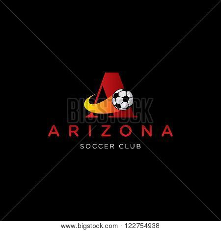 letter A vector template for using as soccer club logo