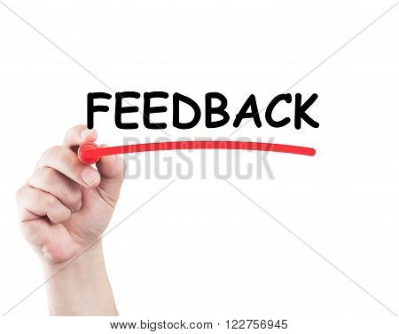 Hand Underlining Feedback Word