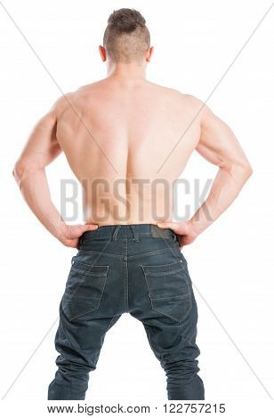 Muscular Male With A Wide Back