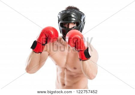 Protected Boxer Ready To Punch