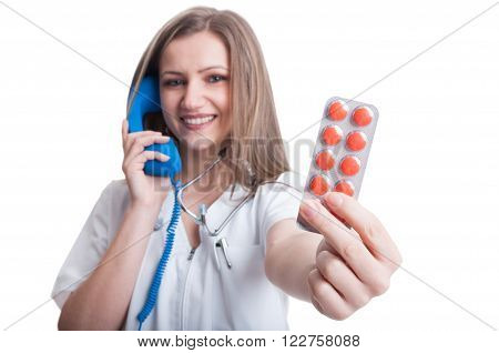 Call For Pills Concept
