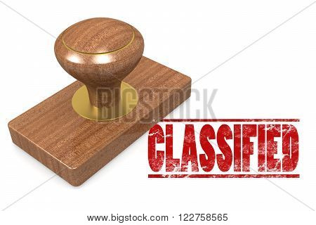 Classified Wooded Seal Stamp