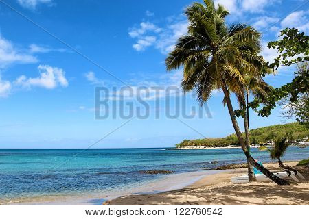 Gros Islet Beach at East Winds Inn Resort, Saint Lucia, Caribbean Sea