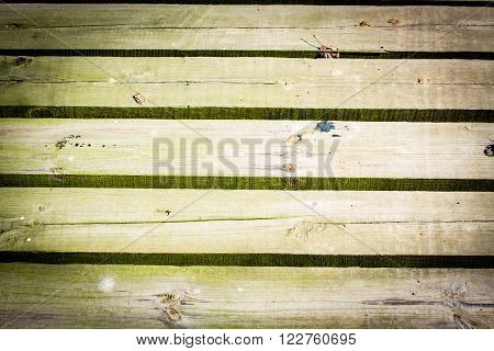 Texture of wood with slits between the boards background.
