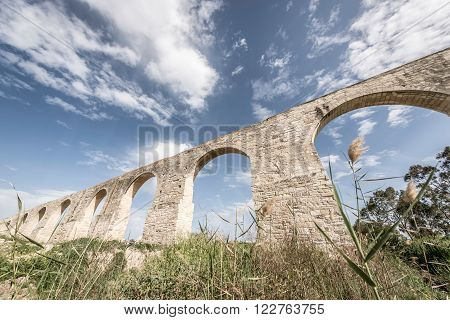 Kamares Aqueduct also known as the Bekir Pasha Aqueduct. Larnaca Cyprus.