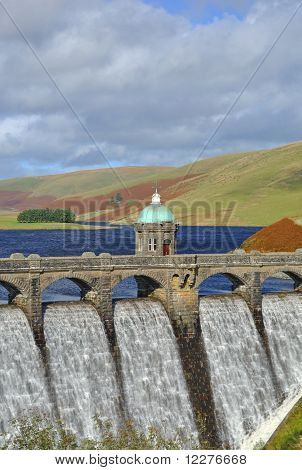 Dam in the Elan Valley Wales