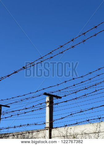 Abstract image of the barbed wire - border