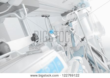 Console in the intensive care unit. Medical background