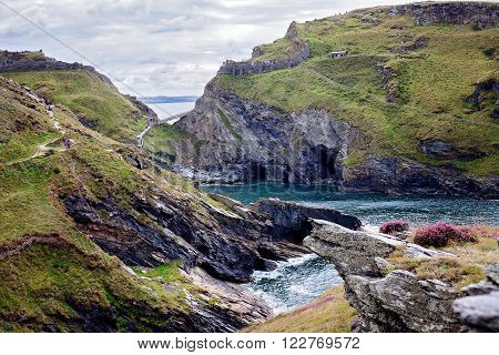 Tintagel Bay North Cornwall Coast, England