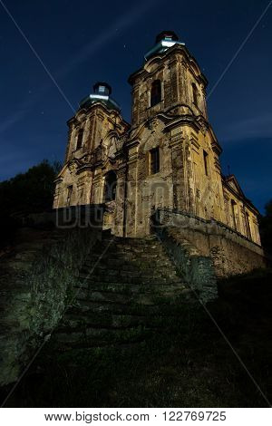 Ruins of the Church of the Visitation - Skoky village, Czech republic