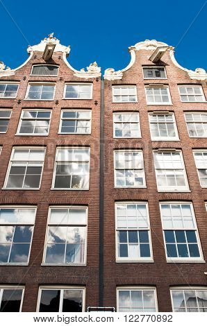 Amsterdam17th century residences down town in the Netherlands.